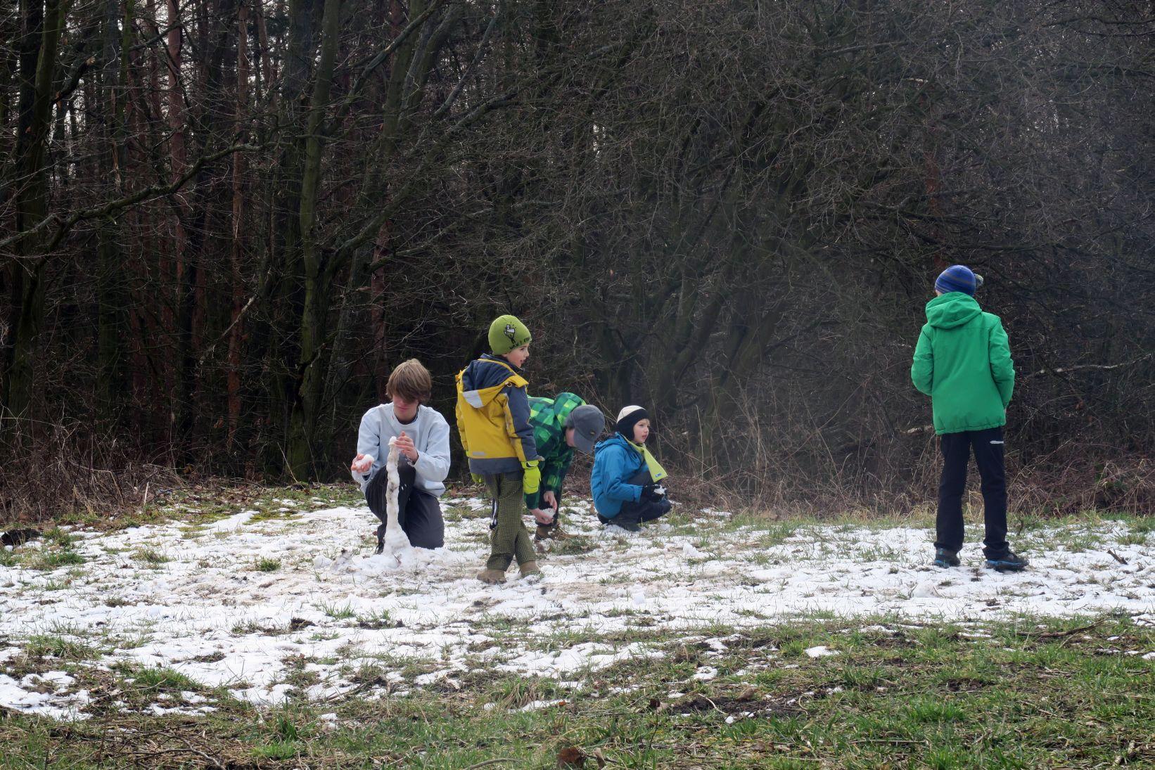 Využíváme poslední zbytky sněhu